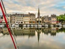 旧港口 05法国honfleur诺曼底 免版税库存照片