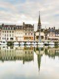 旧港口 05法国honfleur诺曼底 免版税库存图片