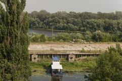 旧港口 从Boldin山的顶端看法,切尔尼戈夫,乌克兰 Juny 15日2016年 免版税库存图片
