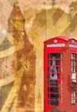 破旧的别致的伦敦拼贴画 免版税库存照片