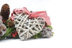 破旧的别致的圣诞节装饰 免版税库存图片