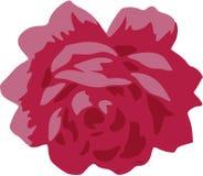 破旧的别致的红色玫瑰传染媒介 免版税库存图片