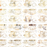 破旧的别致的茶杯样式 免版税库存照片