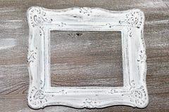 破旧的别致的葡萄酒画框,被隔绝 库存图片