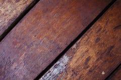 破旧的别致的设计的温暖的棕色木背景 免版税库存照片