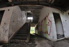 破旧的台阶 库存照片