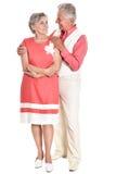 更旧的夫妇消费 免版税库存照片