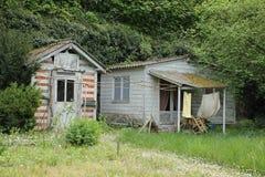 破旧的房子 希农 法国 图库摄影