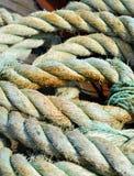 破旧的海洋绳索 库存照片