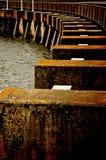 破旧的码头 库存照片