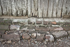 破旧的门阶 免版税库存照片