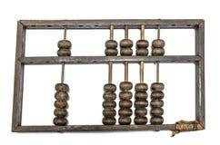 破旧的年迈的木算盘 免版税库存图片