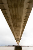 更旧的Severn横穿的下面,吊桥connec 免版税库存图片