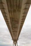 更旧的Severn横穿的下面,吊桥connec 免版税图库摄影