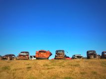 旧货金属堆报废围场 免版税库存照片