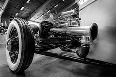旧车改装的高速马力汽车小轿车福特模型A的细节, 1931年 免版税库存照片