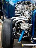 旧车改装的高速马力汽车汽车 库存照片