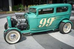 旧车改装的高速马力汽车车展 库存图片