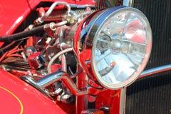 旧车改装的高速马力汽车车灯 库存照片