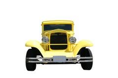旧车改装的高速马力汽车黄色 免版税库存图片