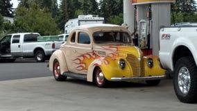 旧车改装的高速马力汽车 免版税图库摄影