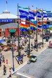 旧金山五颜六色的码头39在夏天 免版税库存图片