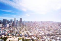 旧金山全景街市和周围 库存图片