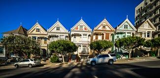 旧金山加利福尼亚的被绘的夫人日落的 免版税库存照片