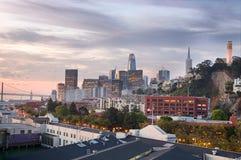 旧金山口岸和通信机小山 库存照片
