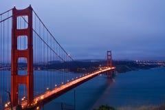旧金山和金门桥 免版税库存图片