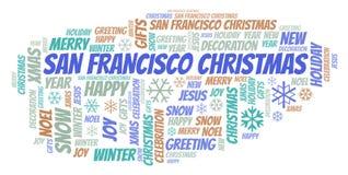 旧金山圣诞节词云彩 向量例证