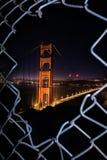 旧金山在夜-金门大桥之前 图库摄影