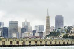 旧金山地平线,加利福尼亚 库存照片