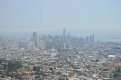 旧金山地平线 旅行假日Arquitecture 2017年6月30日 弗朗西斯科・圣 免版税库存图片