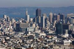 旧金山天空线城市 免版税库存图片