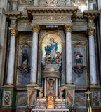 旧金山女修道院在Santiago de Compostela 库存照片