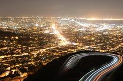 旧金山孪生峰顶 库存图片