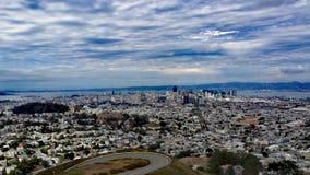 旧金山孪生峰顶 库存照片