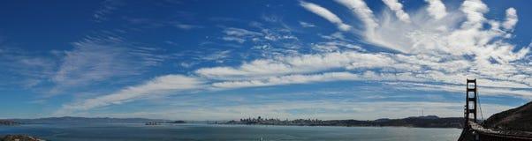 旧金山市全景 免版税库存照片