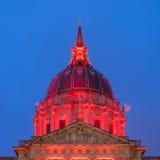 旧金山市政厅圆顶 免版税图库摄影
