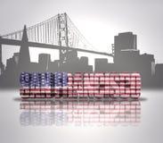 旧金山市视图 免版税库存照片