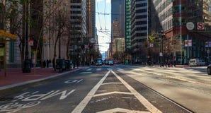 旧金山市-旧金山的地平线  免版税图库摄影