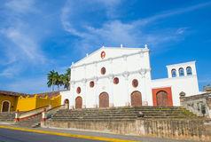 旧金山教会在格拉纳达尼加拉瓜 免版税图库摄影