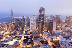 旧金山日落 免版税库存照片