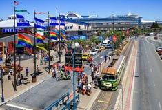 旧金山江边繁忙的码头39 免版税库存图片