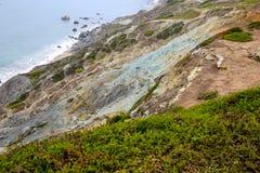 旧金山海岸峭壁 免版税库存照片