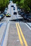 旧金山海德街山顶在加利福尼亚 免版税库存照片