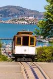 旧金山海德街缆车加利福尼亚 免版税图库摄影