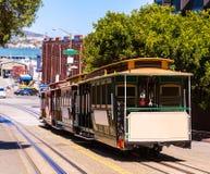 旧金山海德街缆车加利福尼亚 库存图片