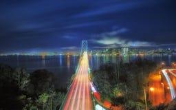 旧金山海湾桥梁  免版税库存照片